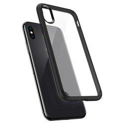 Case SPIGEN Ultra Hybrid Apple iPhone X Xs Matte Black + 3MK Glass