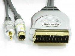 PROLINK Scart - SVHS4P +3,5 STR 15m cable TCV7580