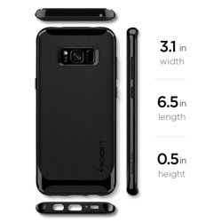 SPIGEN NEO Hybrid Case for Samsung Galaxy S8 Shiny Black + SPIGEN Glass Case