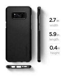 Etui SPIGEN Dünne Passform Samsung Galaxy S8 G950 Schwarzes Gehäuse