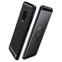 Etui SPIGEN Neo Hybrid Samsung Galaxy S9 Glänzendes Schwarz + Szkło SPIGEN Fall