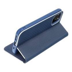 Forcell LUNA Book Carbon Holster für SAMSUNG Galaxy A13 blau