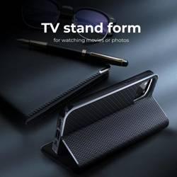 Forcell LUNA Book Carbon Holster für SAMSUNG Galaxy S22 Plus schwarz