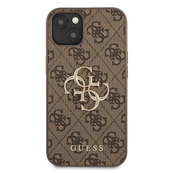"Guess GUHCP13S4GMGBR iPhone 13 mini 5,4"" braun/braun HartschalenHülle 4G Big Metal Logo"