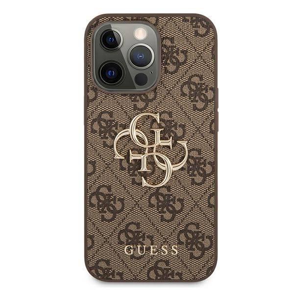 "Guess GUHCP13X4GMGBR iPhone 13 Pro Max 6,7"" braun/braun HartschalenHülle 4G Big Metal Logo"