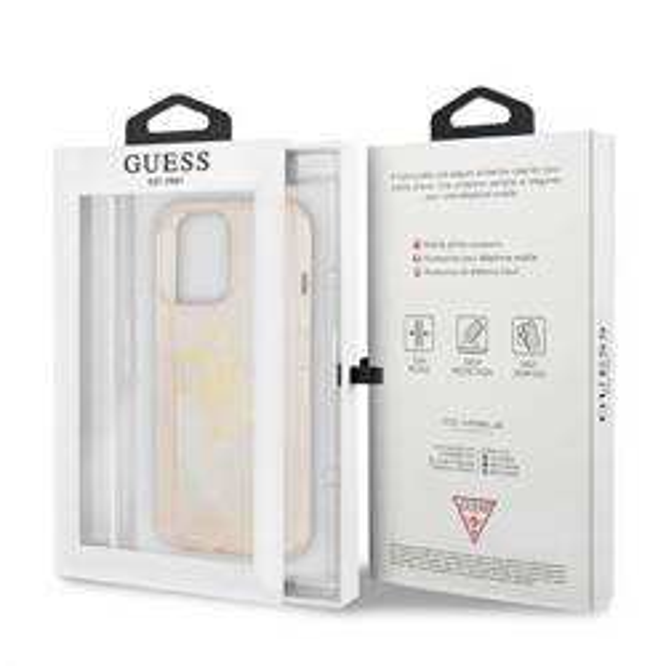"""Guess GUHCP13XPCUGL4GGO iPhone 13 Pro Max 6.7"""" gold/gold Hartschalengehäuse Glitter 4G Big Logo"""