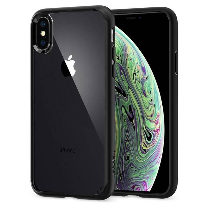 Hülle SPIGEN iPhone X XS Ultra Hybrid Mattschwarz Schwarz Apple Hülle