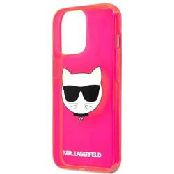 "Karl Lagerfeld KLHCP13LCHTRP iPhone 13 Pro / 13 6.1"" rosa/rosa HartschalenHülle Glitter Choupette Fluo"