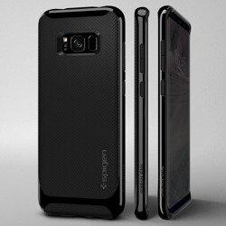 SPIGEN NEO Hybrid Samsung Galaxy S8 Glänzendes Schwarz + Gehäuse aus gehärtetem Glas SPIGEN