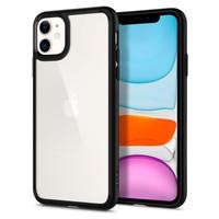Etui SPIGEN iPhone 11 Ultra Hybrid Czarne Black Case Apple + Szkło 3MK Flexible Glass
