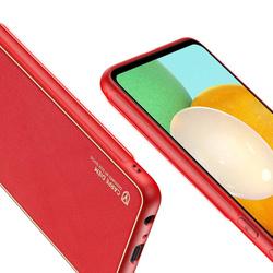 Dux Ducis Yolo eleganckie etui pokrowiec ze skóry ekologicznej Samsung Galaxy A52 5G / A52 4G czerwony