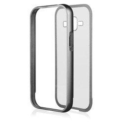 Etui Aluminium Bumper Qult Luxury Samsung Galaxy J1 Czarny