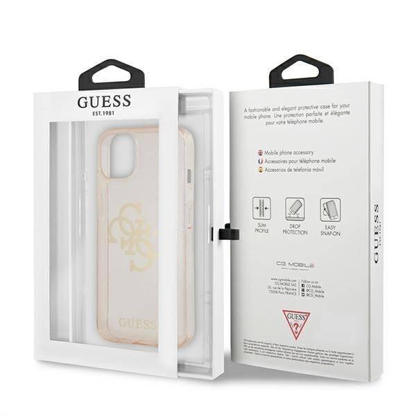 Etui GUESS Apple iPhone 13 Glitter 4G Big Logo Złoty Hardcase