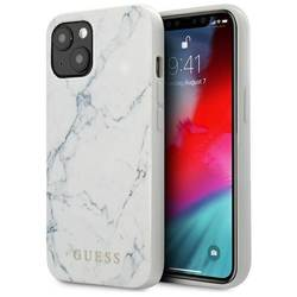 Etui GUESS Apple iPhone 13 Marble Biały Hardcase