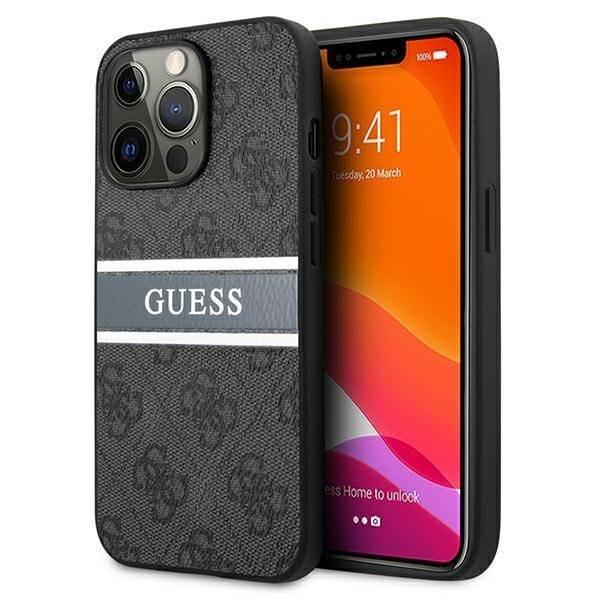 Etui GUESS Apple iPhone 13 Pro Max 4G Stripe Szary Hardcase