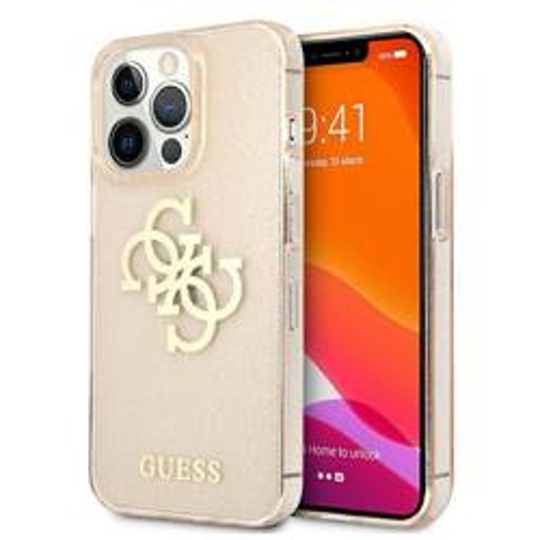 Etui GUESS Apple iPhone 13 Pro Max Glitter 4G Big Logo Złoty Hardcase