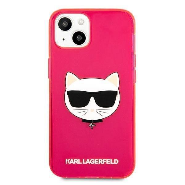 Etui KARL LAGERFELD Apple iPhone 13 Mini Glitter Choupette Fluo Różowy Hardcase