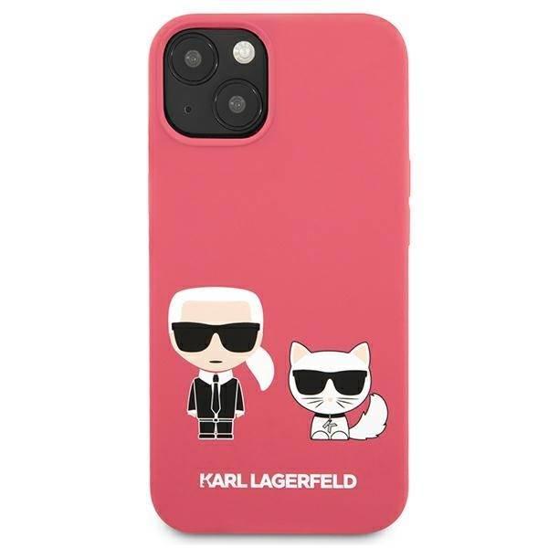 Etui KARL LAGERFELD Apple iPhone 13 Silicone Karl & Choupette Różowy Hardcase