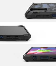 Etui RINGKE Fusion X Galaxy M51 Camo Black Czarne Case