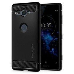 Etui SPIGEN Rugged Armor Sony Xperia Xz2 Compact Black Czarne Case