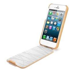 Etui SPIGEN iPhone 5 Argos Vintage Brown Brązowy Apple Futerał Case