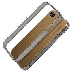 Etui iPhone 4 4S INCIPIO Le Deux Metal Złoty Pokrowiec