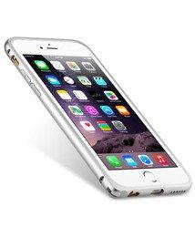 Etui iPhone 6 6S MELKCO Metal Bumper SILVER+ Folia