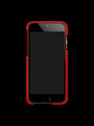 Etui iPhone 6 SEVENMILLI Real Metal ALU Black / Red