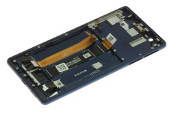 ORYGINALNY WYŚWIETLACZ LCD Dotyk Nokia 3 Niebieski Grade A Ramka
