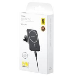 WP-U95 Upine Series Magnetic wireless charging car holder black