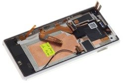 WYŚWIETLACZ SONY Xperia M2 Aqua Z Wadą BIAŁY LCD Oryginalny Dotyk